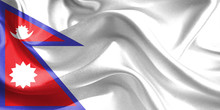 Nepal Flag. Waving Rippled Fla...