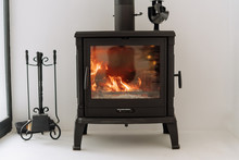 Modern Black Metal Fireplace B...