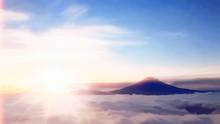 幻想的な富士景色