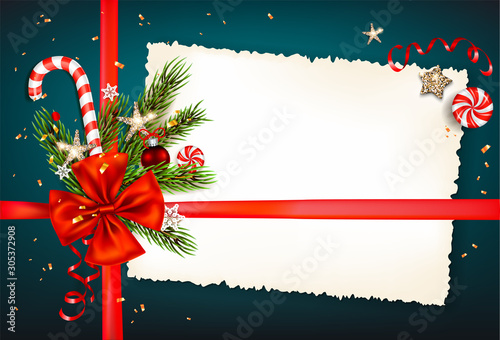 Fotobehang - Festive background with winter decorations