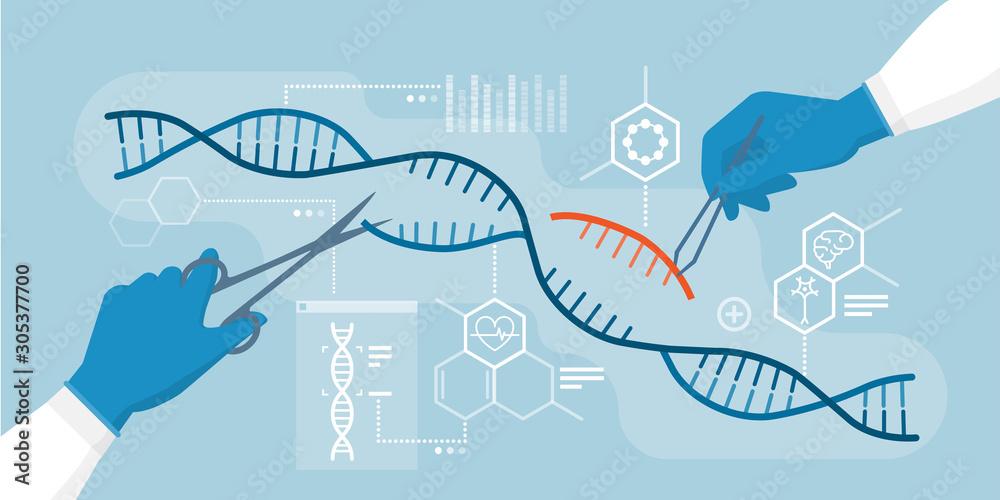 Fototapeta DNA and genome editing