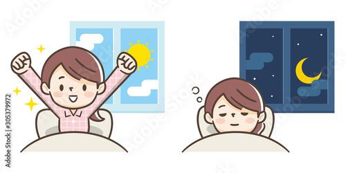 起床と睡眠 Fototapet