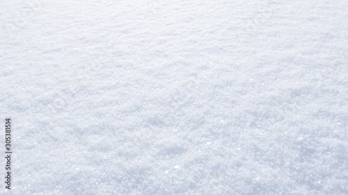 obraz PCV Winter snow background. The texture of fresh, clean, sparkling, freshly fallen snow