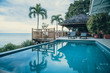 Leinwanddruck Bild - Luxury Villa with Terrace and Infinity Pool with Ocean Views in the Caribbean