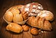 Fresh fragrant bread on the table.