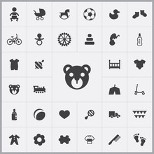 Bear Icon. Baby, Kids Icons Un...