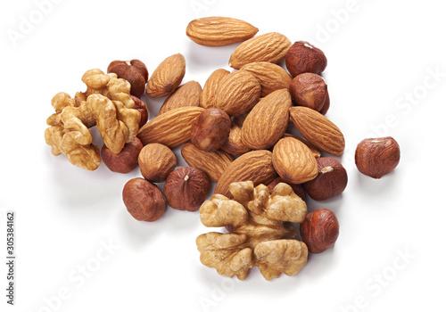 Cuadros en Lienzo mix of nuts. hazelnuts, walnuts and almonds