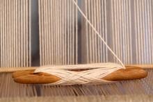 Ancient Textile Machine Close Up