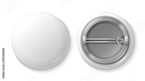 Fotografie, Obraz Button pin badge