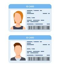 Id Card. Women And Men Plastic...