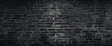 Rough Black Brick Wall Texture Background