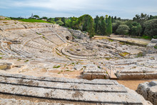 Greek Theatre. Syracuse, Sicily, Italy