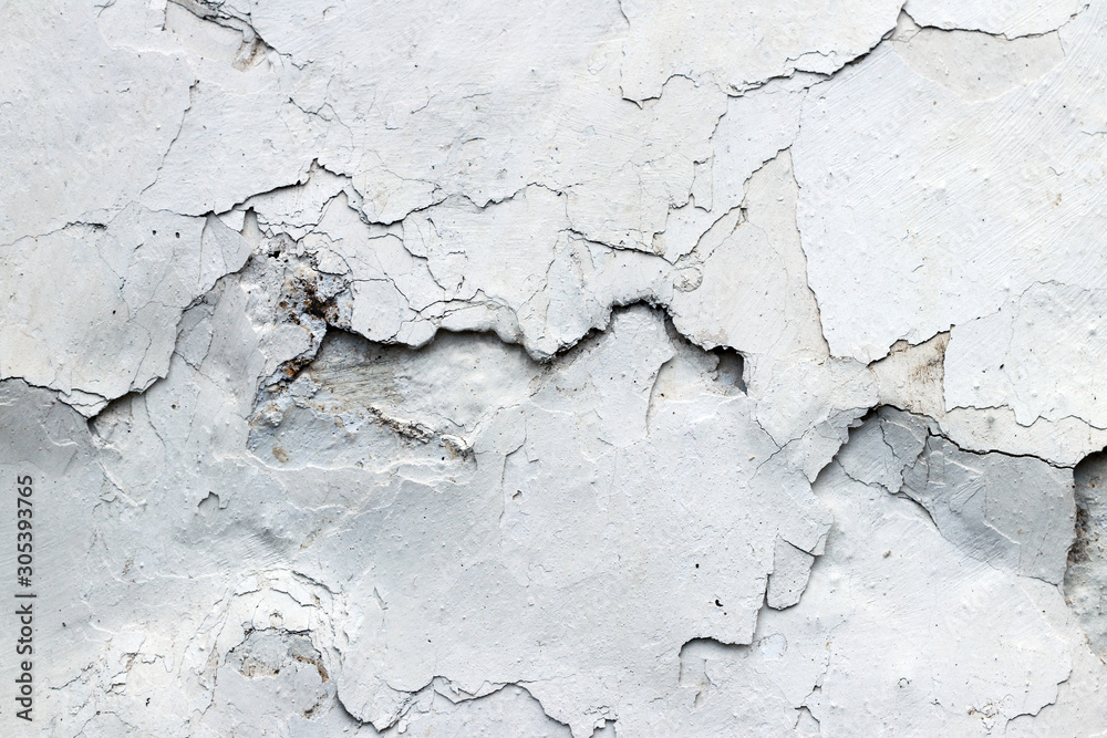 Fototapety, obrazy: Fine cracks in the plaster - grunge texture