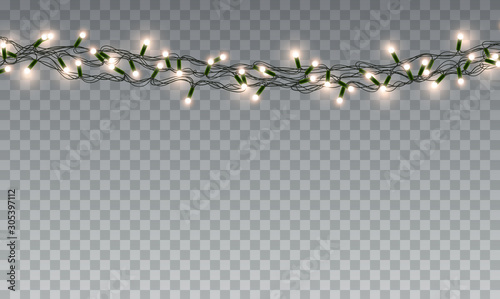Photo  Lights bulbs isolated on transparent background