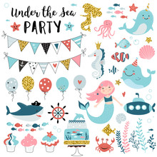 Under The Sea Party Elements F...