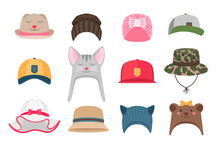 Kids Hats Illustrations. Hat S...