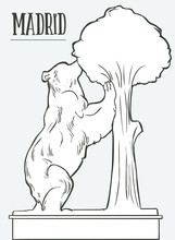 The Statue Of The Bear And The Strawberry Tree Stock Illustration