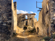Ruined Houses In Abandoned Vil...