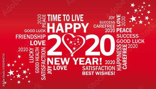 Fotografie, Obraz gute wünsche für 2020
