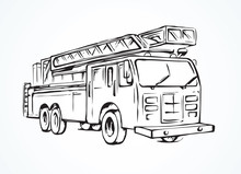 Fire Truck. Vector Drawing