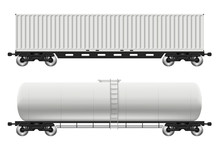 Railroad Cars - Tank And Conta...