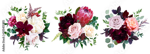luxury fall flowers vector bouquets. stock vector | adobe stock  adobe stock