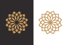 Luxury Geometric Flower Logo D...