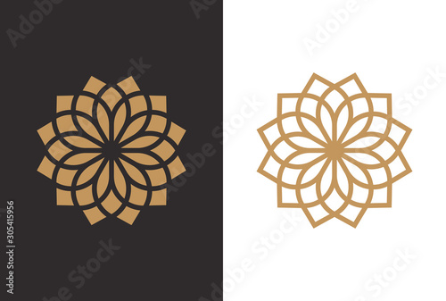 Tablou Canvas Luxury Geometric Flower Logo Design