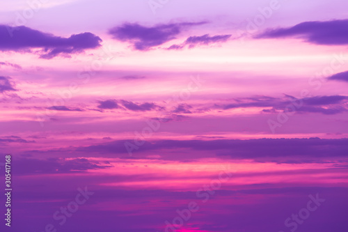 Spoed Foto op Canvas Snoeien Beautiful landscape mountain range and rivers and purple sky at the sunset, twilight period which including of sunrise