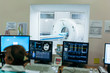 Modern room with multi detector spiral CT Scanner ( Computed Tomography). Medical technology concept.