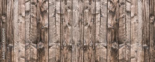 Photographie Bannière vieux mur de bois
