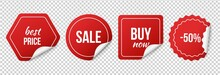 Sale Tags. Red Sale Stickers. ...