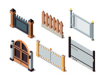 Isometric Fences. Residential ...