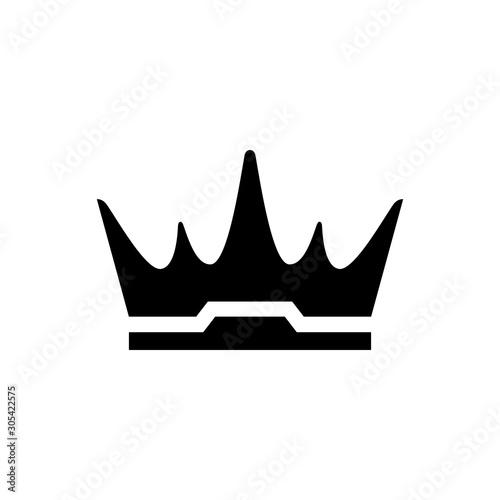 Stampa su Tela Royal crown and power symbol glyph icon