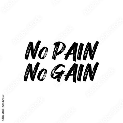 Photo No pain no gain- positive saying text