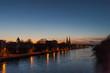 Sunset over the skyline of Regensburg in Bavaria