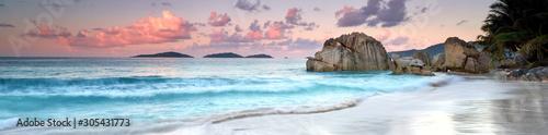 Fototapeta Seychellen Strand Panorama obraz