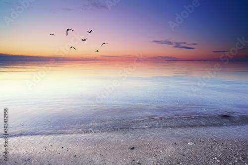 Платно  stiller Morgen am Strand