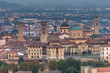 Skyline view of Bergamo old town, Italy