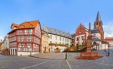 Famous Old Stifts Basilika In Aschaffenburg At Stiftskirchenplatz