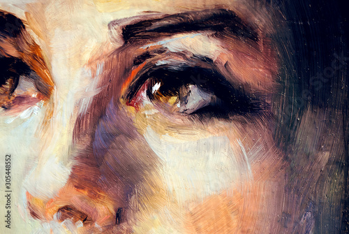 Fototapeta reprodukcje  ilustracja-oczu