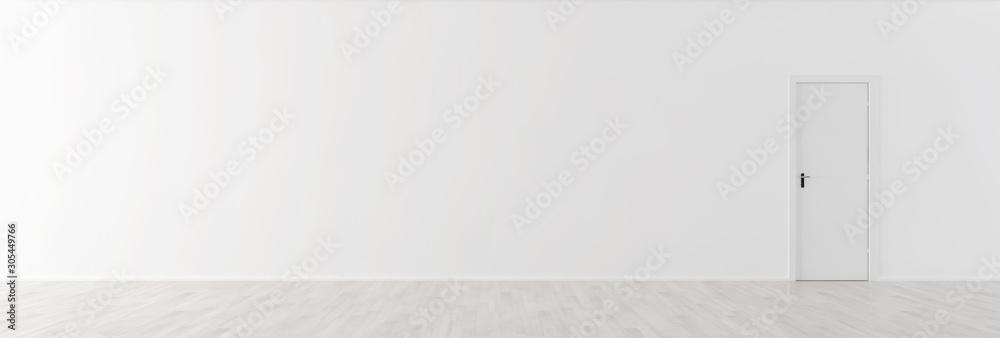Fototapeta large luxury modern minimal bright interiors room mockup illustration 3D rendering - obraz na płótnie