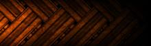 Dark Orange Vintage Grunge Stripes Abstract Banner Design. Geometric Tech Vector Background