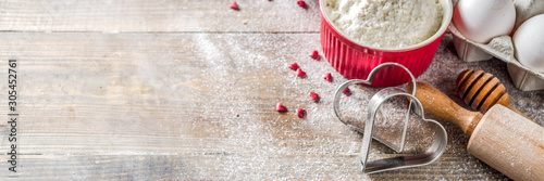 Valentine day baking background Canvas