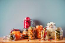 Probiotics Food Background. Ko...