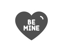Sweet Heart Sign. Be Mine Icon...