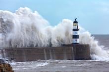 Waves Crashing Over Seaham Lig...