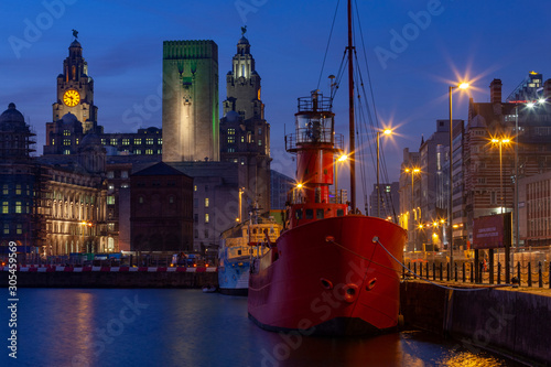 City of Liverpool on Merseyside in the northwest of England