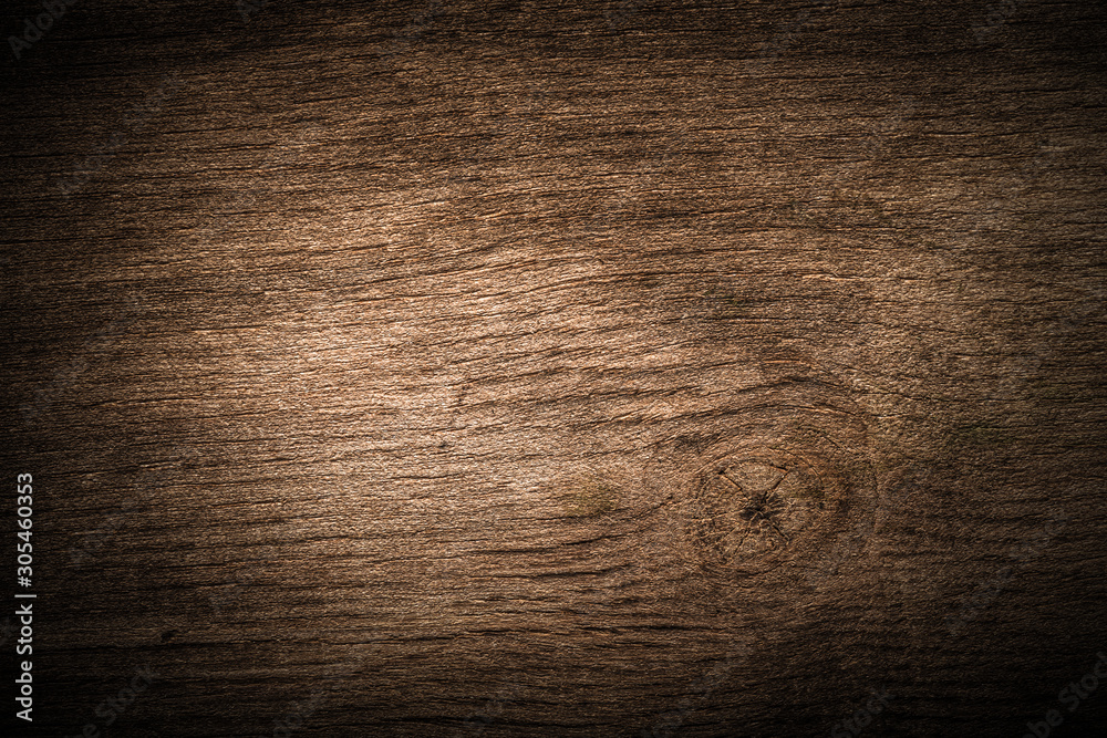 Fototapety, obrazy: Surface of old textured wooden board for background. Toned