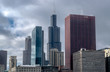Skyline of Chicago on a Cloudy Evening - Chicago, Illinois, USA